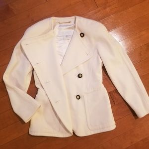 Vintage Escada White Wool Blaze